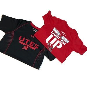 2 Boys Under Armour University of Utah Tops Med